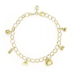 Hello Kitty Gold Vermeil Charm Bracelet