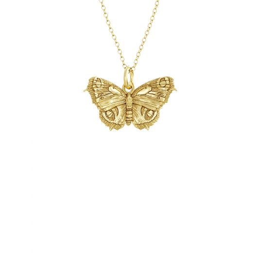 Butterfly Charm Necklace 18ct Gold Vermeil