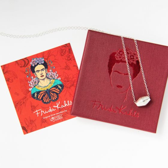 Frida Kahlo Toggle Butterfly Bead Necklace