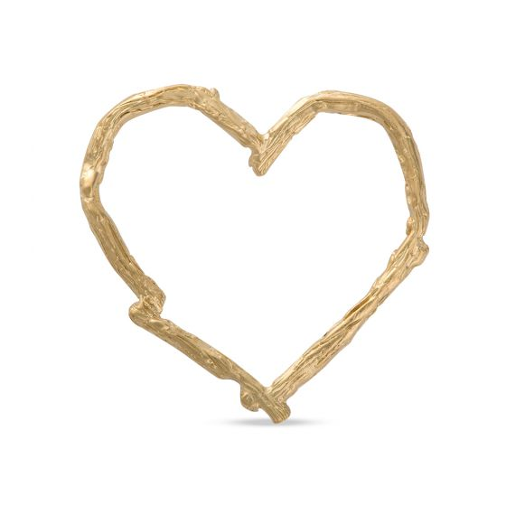 Licensed to Charm - Gold Vermeil Twig Heart Charm