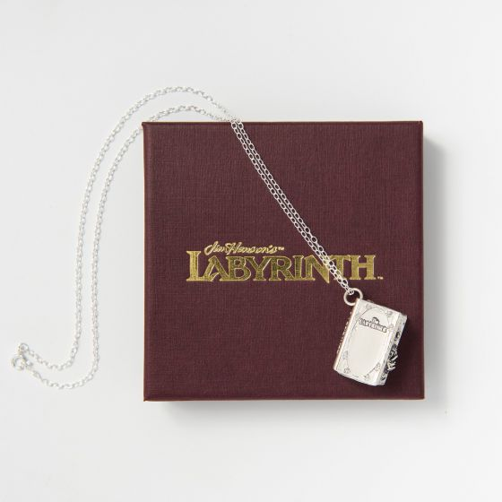 Labyrinth Character Book Charm Necklace