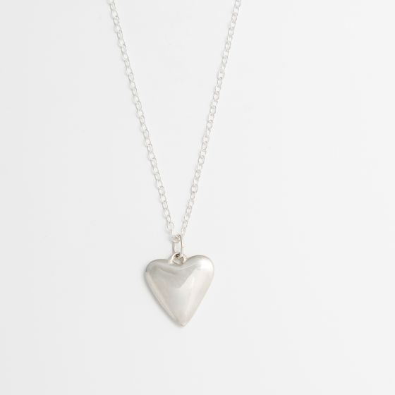 Gorgeous Heart-Shaped Pendant Sterling Silver