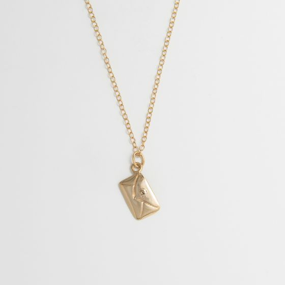 Traditional Love Letter Necklace 18ct Gold Vermeil