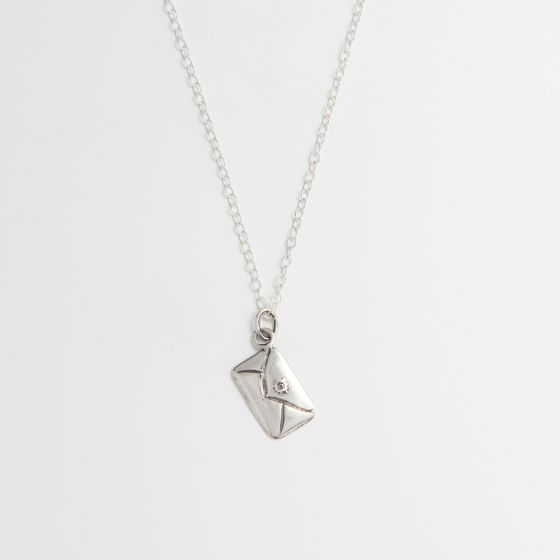 Traditional Love Letter Necklace Sterling Silver