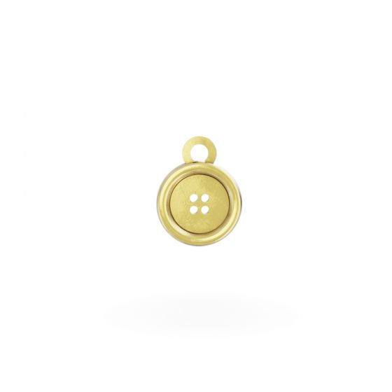 Miffy - 18ct Gold Button Mini Charm