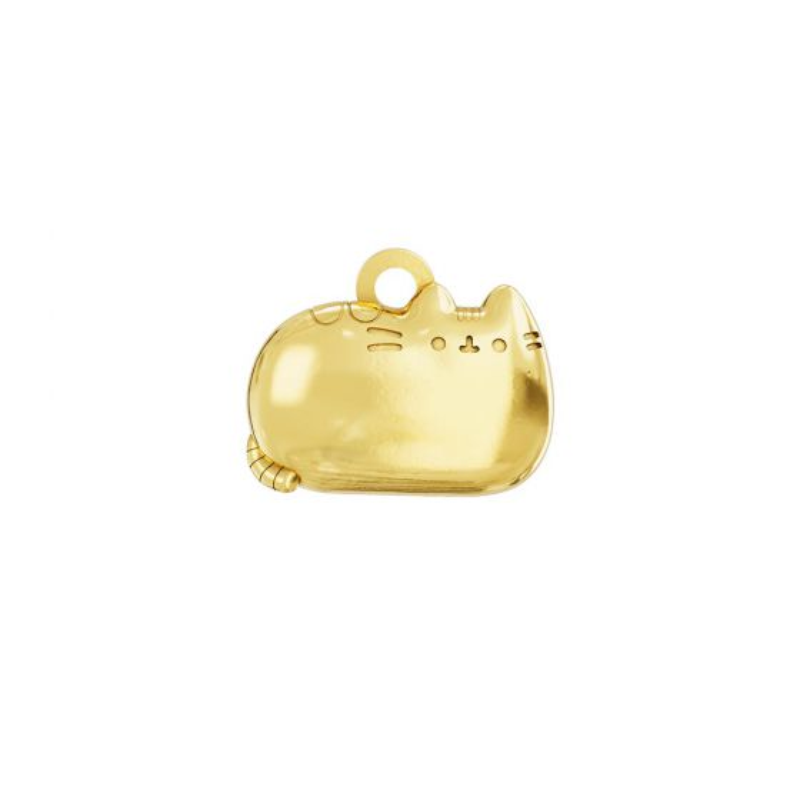 Pusheen Sitting Cat Charm 18ct Gold Vermeil