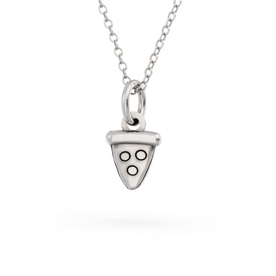 Pusheen Sterling Silver Pizza Slice Charm Necklace