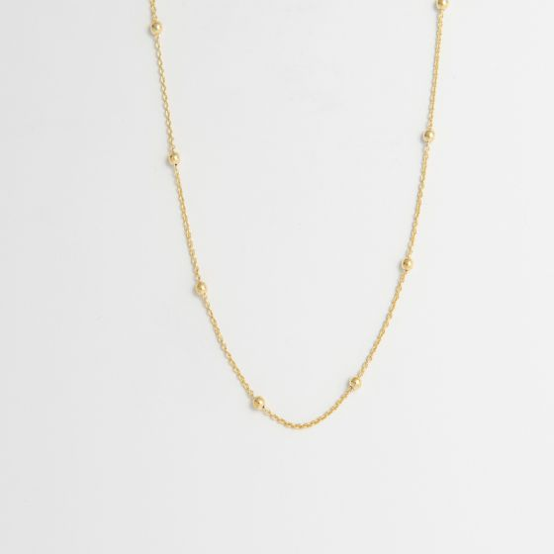 Satellite Chain necklace 18ct gold vermeil