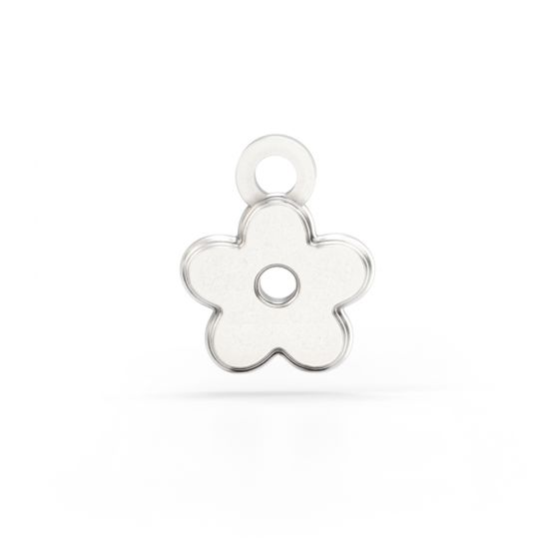Shaun The Sheep - Sterling Silver Flower Charm