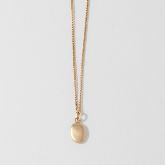 Seashore Small 18ct Gold Vermeil Pebble Charm Necklace