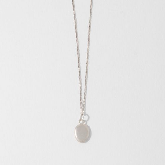 Small Sterling Silver Pebble Charm Necklace