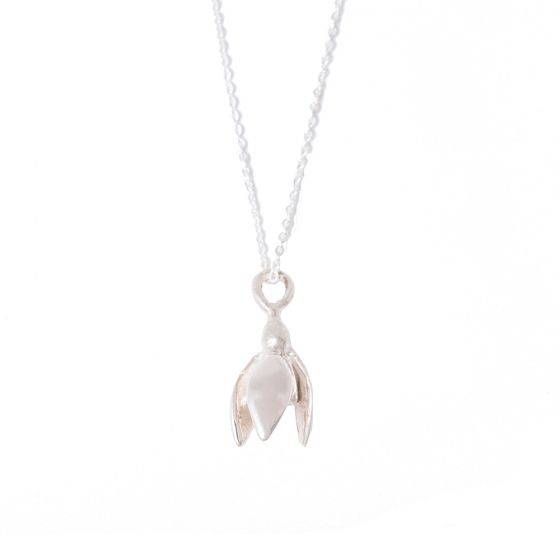 Snowdrop Necklace Sterling Silver