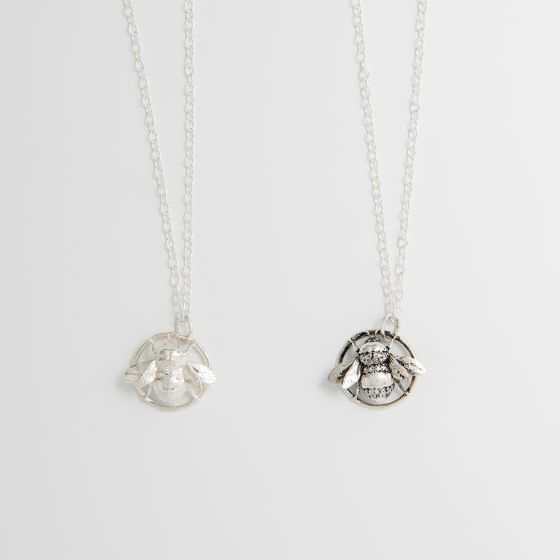 Queen Bee Pendant Sterling Silver