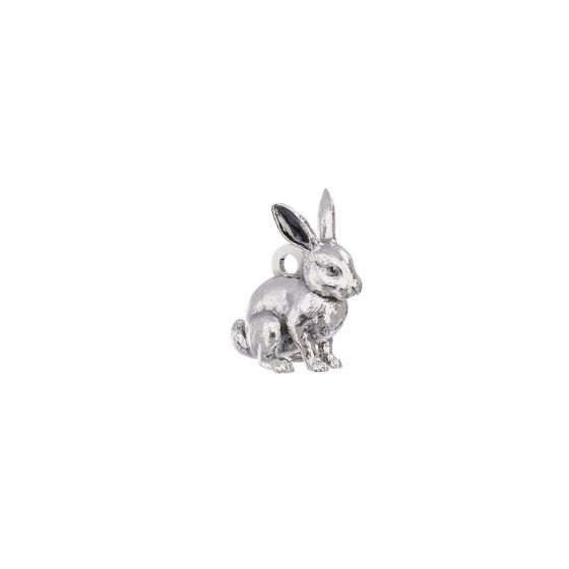 Rabbit Charm Sterling Silver