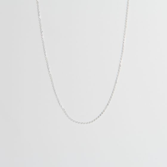 Sterling Silver Hammered Fine Trace Chain