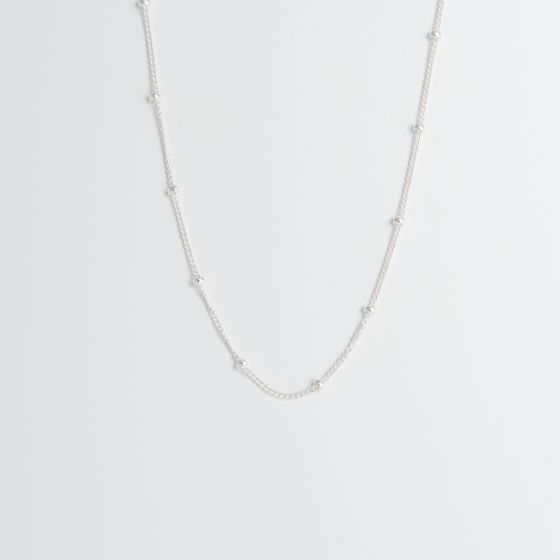 Satellite Chain Necklace Sterling Silver