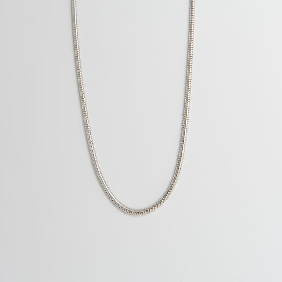 Snake Chain Necklace Sterling Silver