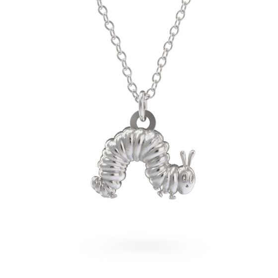 Sterling Silver Very Hungry Caterpillar Necklace