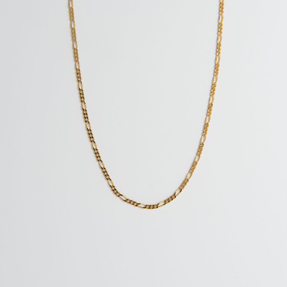 18ct Gold Vermeil Diamond Cut Figaro Chain