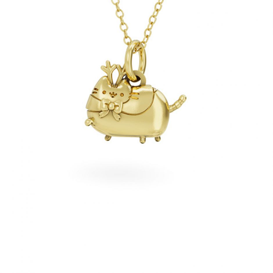 PUSHEEN REINDEER NECKLACE 18ct GOLD VERMEIL