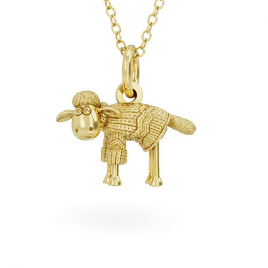 18ct Gold Vermeil Shaun in a Jumper Necklace