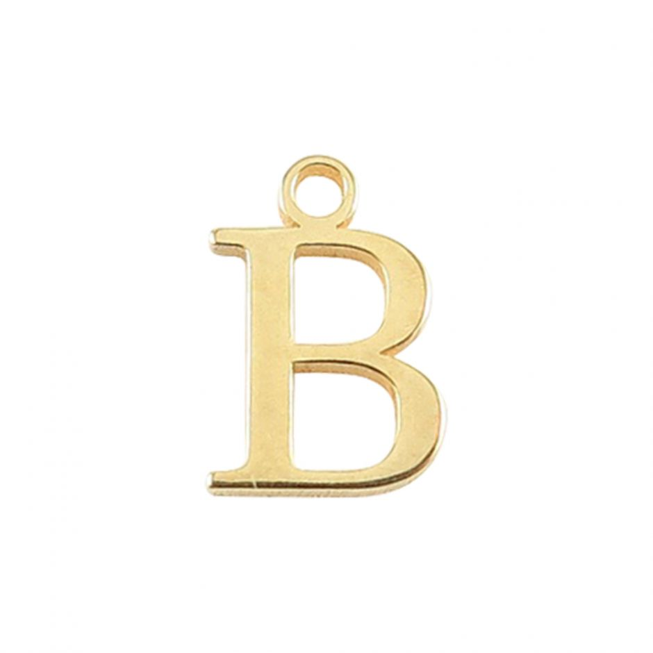Gold Vermeil Mini Alphabet Charm - B