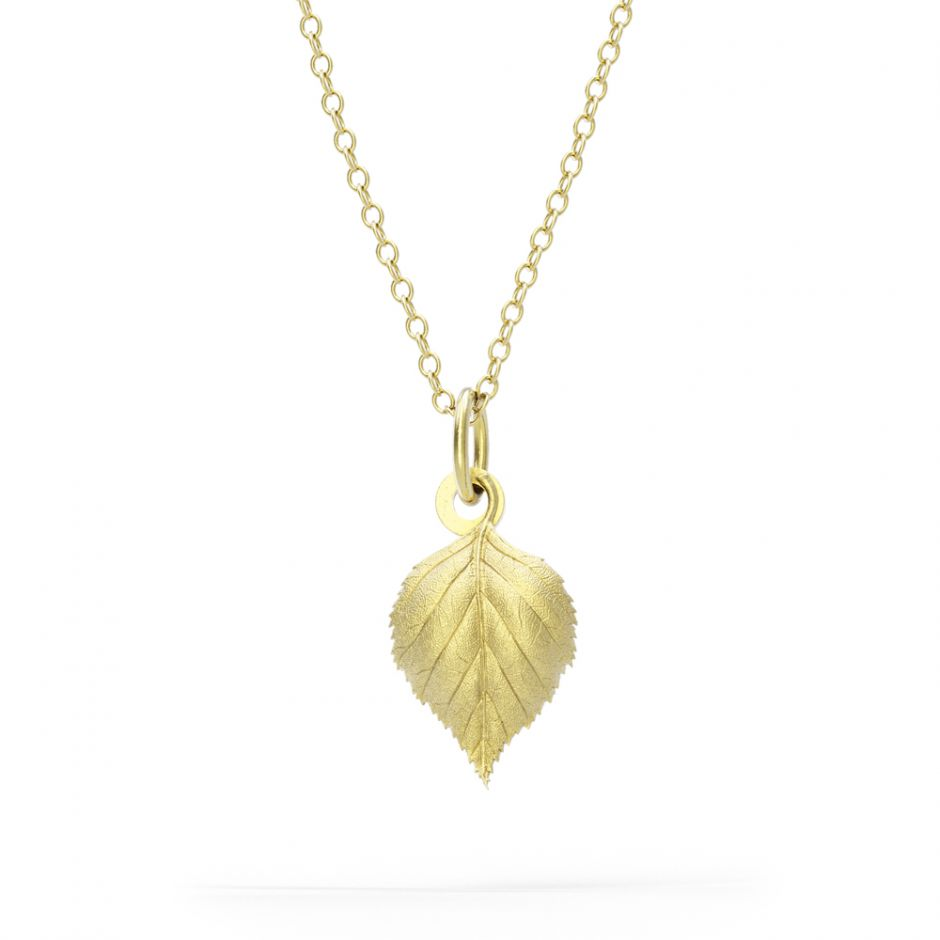 Watership Down - Gold Vermeil Birch Leaf Necklace Set