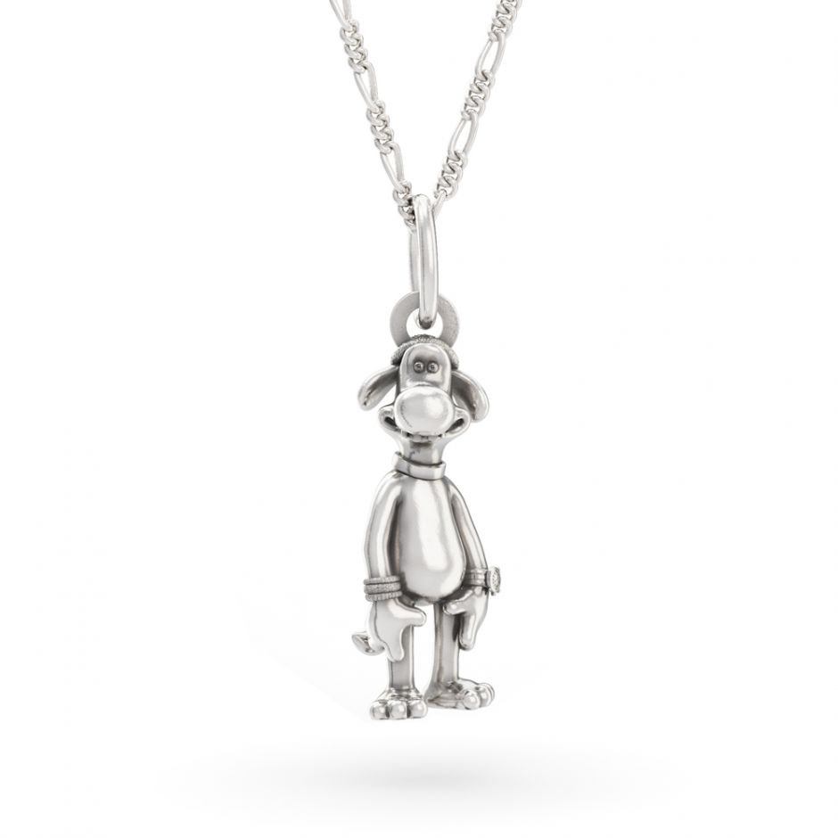 Shaun The Sheep - Sterling Silver Bitzer Necklace Set