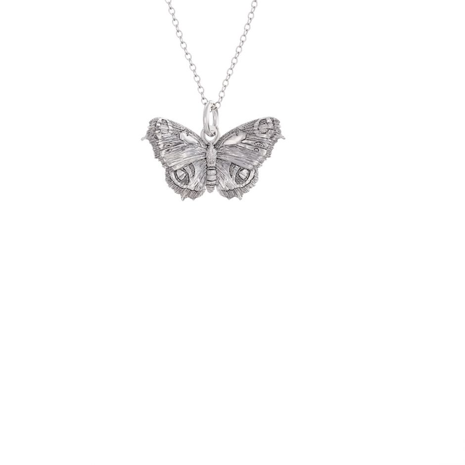 Butterfly Charm Necklace Sterling Silver
