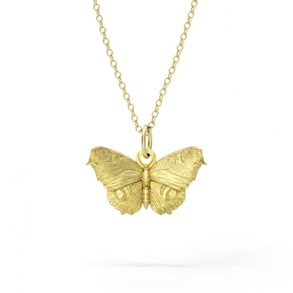 Watership Down - Gold Vermeil Butterfly Necklace Set