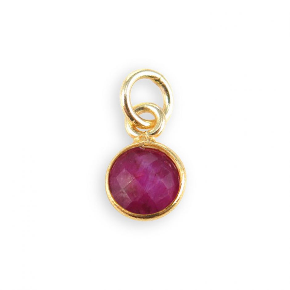 Ruby Gemstone Charm