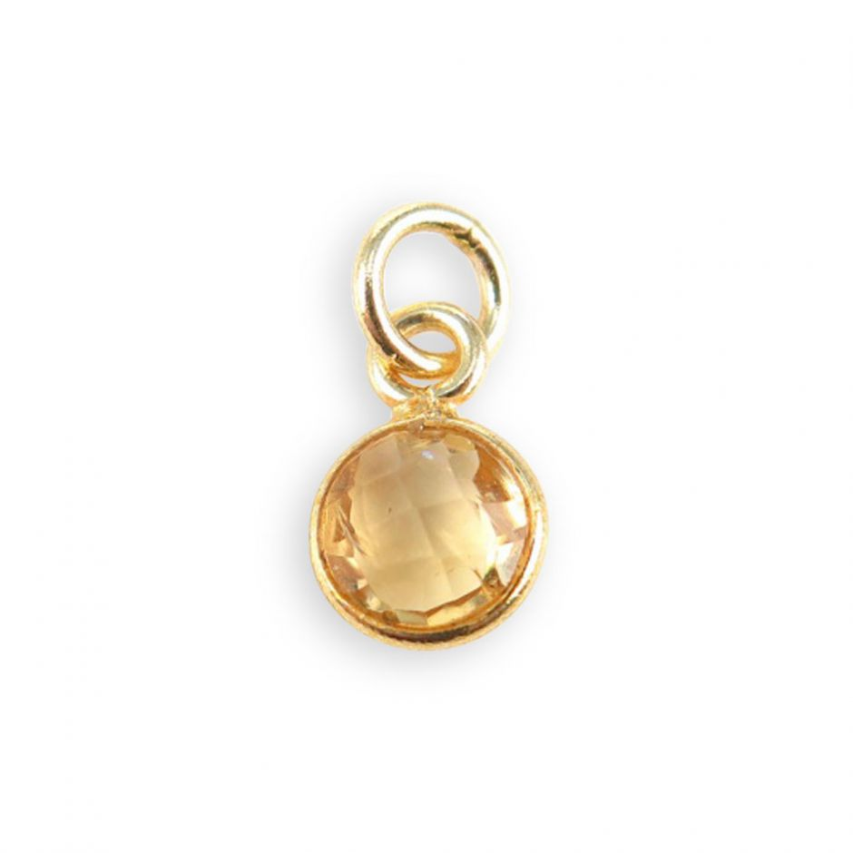 Citrine Gemstone Charm