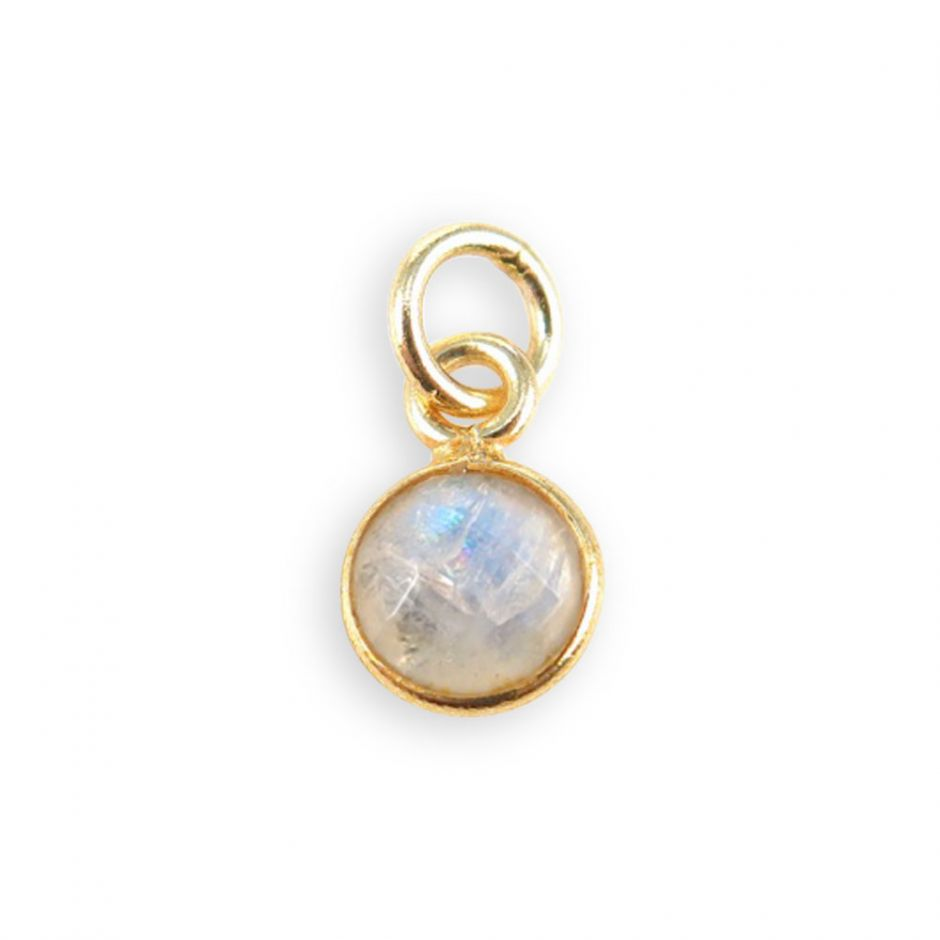 Rainbow Moonstone Gemstone Charm