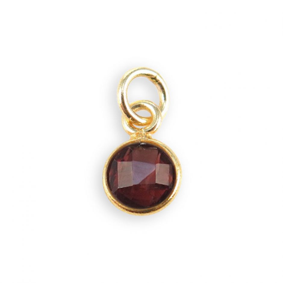 Dark Garnet Gemstone Charm