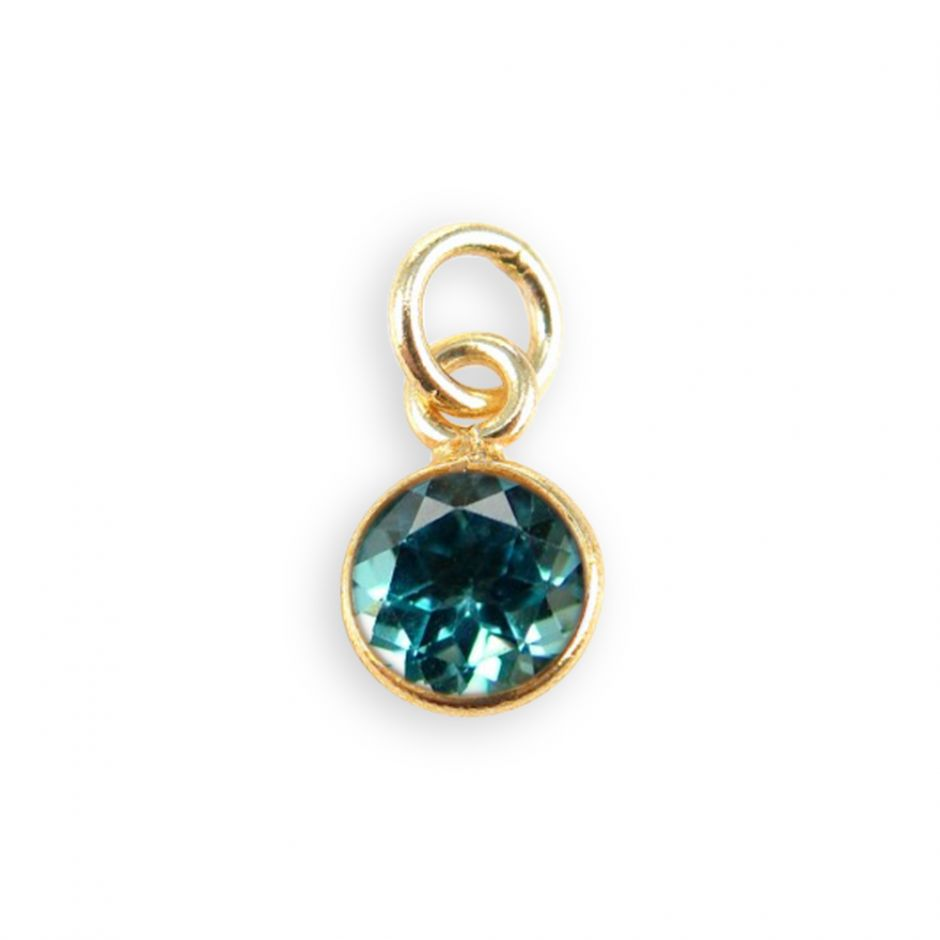 Swiss Blue Topaz Gemstone Charm