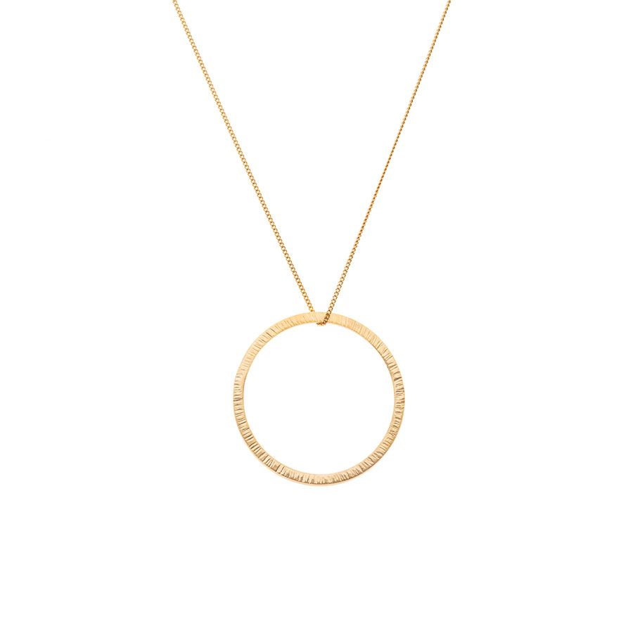 9ct Gold Vermeil High Line Circle Necklace