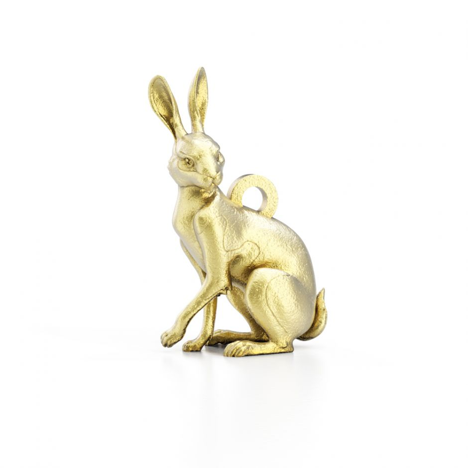 Watership Down - Gold Vermeil Clover The Rabbit Charm
