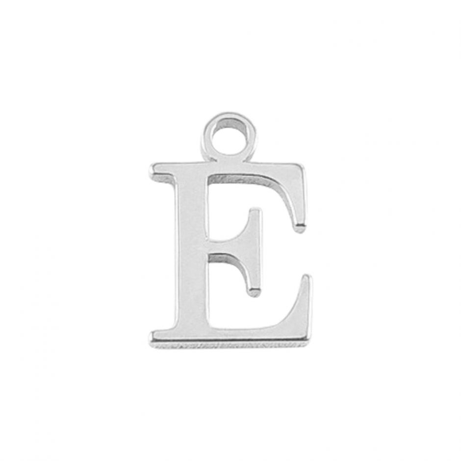 Sterling Silver Mini Alphabet Charm - E