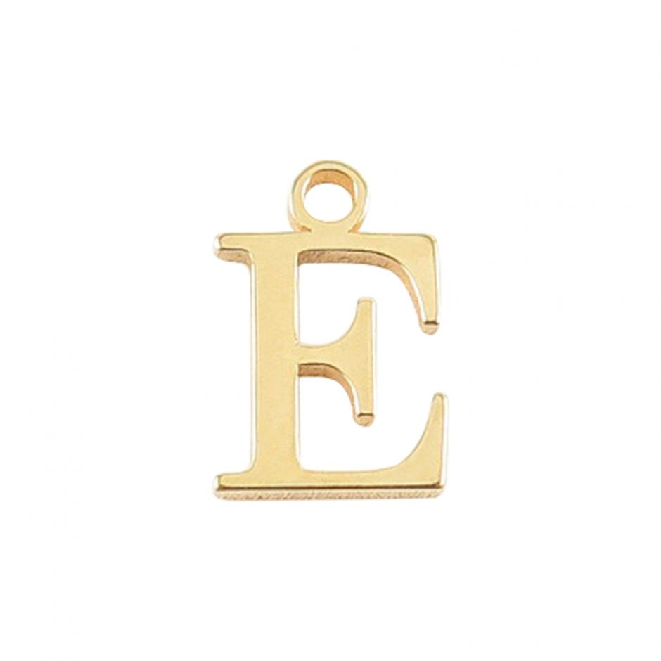 Gold Vermeil Mini Alphabet Charm - E