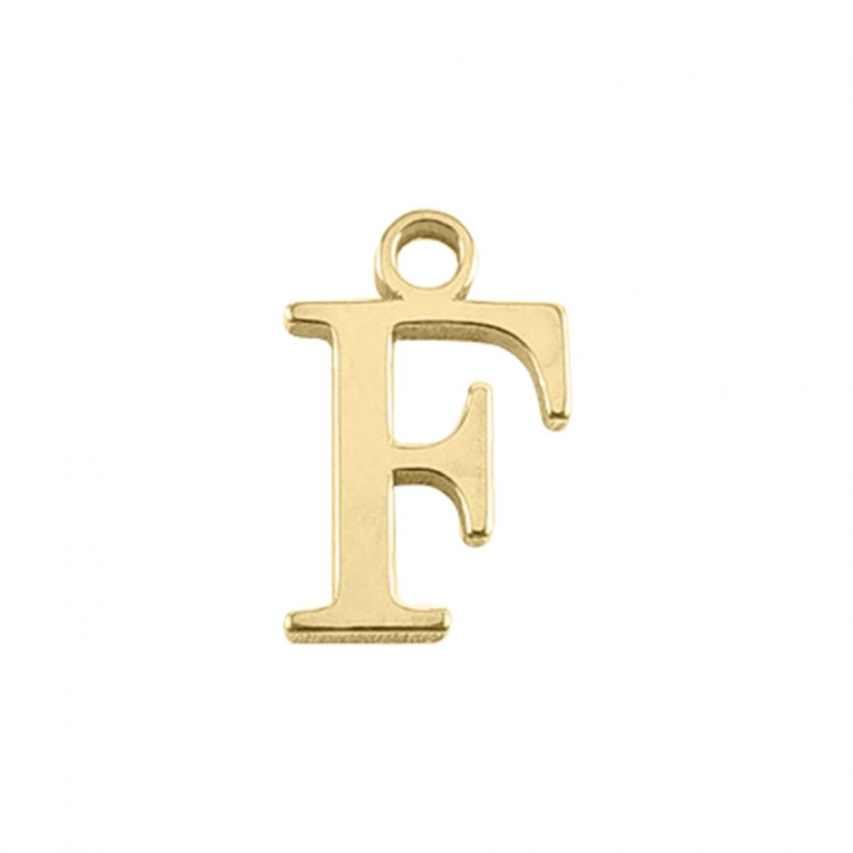 Gold Vermeil Mini Alphabet Charm - F
