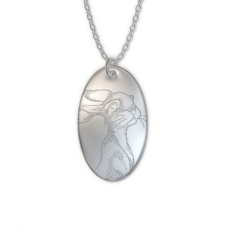 Watership Down - Sterling Silver Oval Fiver Tag Necklace Set