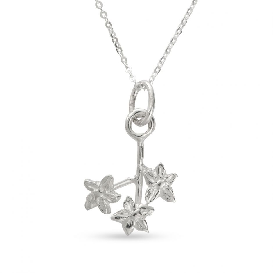 Licensed to Charm - Sterling Silver Forget Me Not Posey Necklace Set