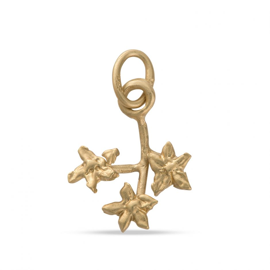 Licensed to Charm - Gold Vermeil Forget Me Not Sprig Charm