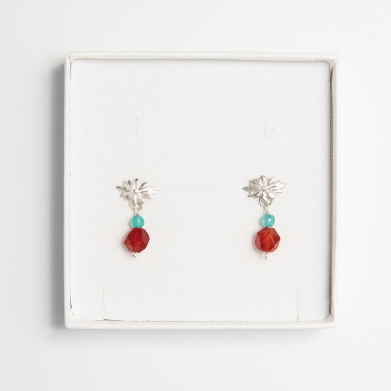 Frida Kahlo Marigold Gemstone Drop Earrings