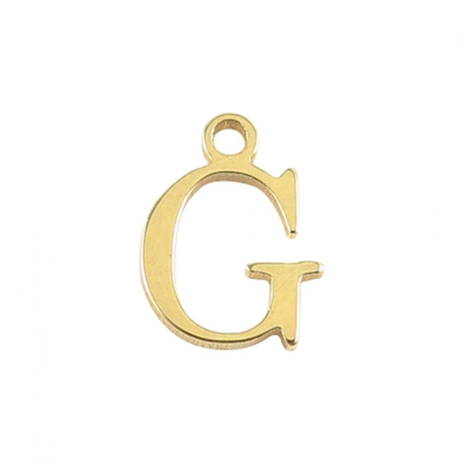 Gold Vermeil Mini Alphabet Charm - G