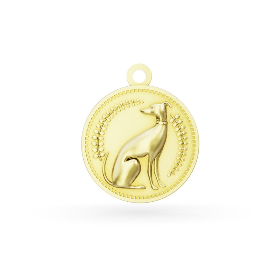 Licensed to Charm - Gold Vermeil Enchanted Animals Dog Charm