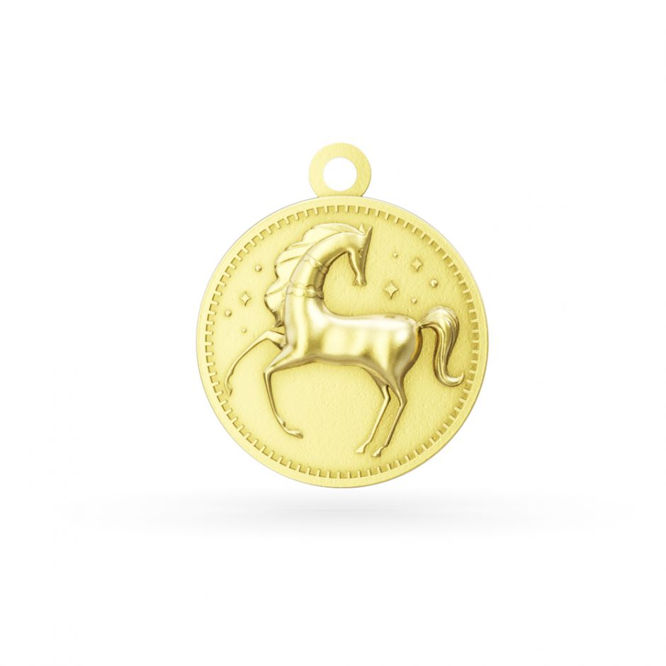 Licensed to Charm - Gold Vermeil Enchanted Animals Horse Charm