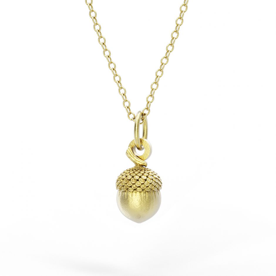 Watership Down - Gold Vermeil Acorn Necklace Set