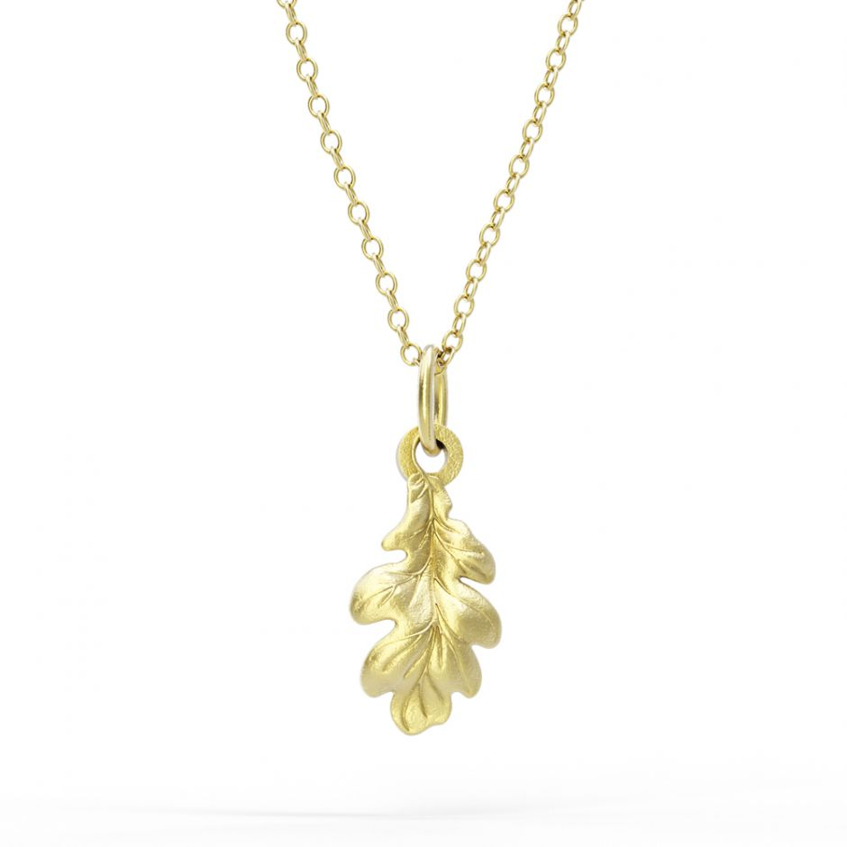Watership Down - Gold Vermeil Oak Leaf Necklace Set