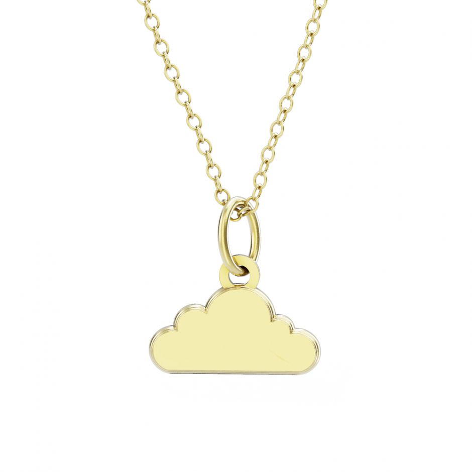 Shaun The Sheep - Gold Vermeil Cloud Necklace Set